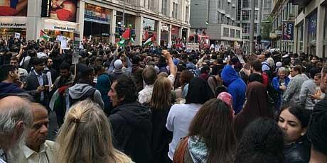 Israeli Embassy blocked