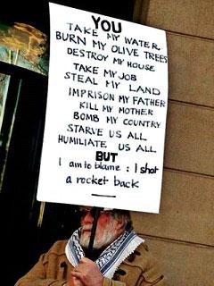 Old man protests Gaza