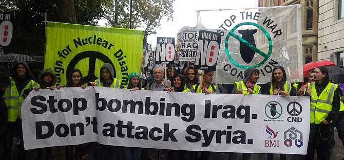 NoIraq3 demonstration London