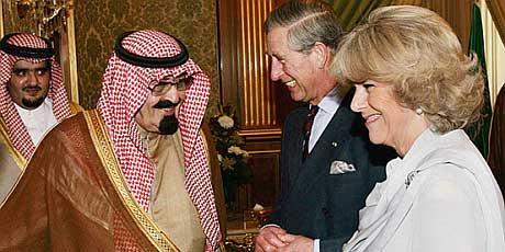 Prince Charles with Saudi king