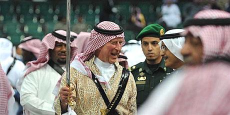 Prince Charles does Saudi sword dance