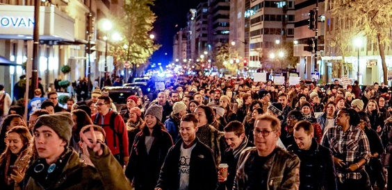 Anti Trump Protest Washington DC