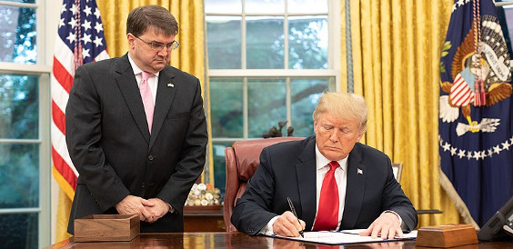 800px Donald Trump and Robert Wilkie